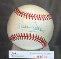 Maury Wills Signed Jsa Authentic Feeney National League Baseball Autograph