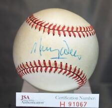 MAURY WILLS SIGNED JSA AUTHENTIC FEENEY NATIONAL LEAGUE BASEBALL AUTOGRAPH