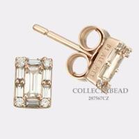 Authentic Pandora Sterling Silver Rose™ Luminous Ice Stud CZ Earrings 287567CZ
