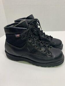 """Danner Black Lace Up Patrol 6"""" Military Boots Goretex Vibram Soles Men's Size 8"""