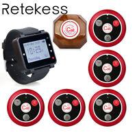 Retekess Wireless Kitchen Server LCD Watch Paging System Vibration Buzzer Prompt