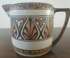 New listing Antique Moriage Nippon Large Creamer Deco Style MCM BEAUTIFUL Earthy Colors