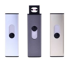 2 x USB Feuerzeug ARC Lighter Lichtbogen elektrisch Wind Strom ohne Gas Akku