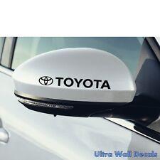 2 x TOYOTA Aufkleber für rückspiegel Sticker Tattoo Auto Yaris Corolla Prius Neu