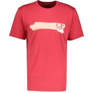 CP Company 20 Red Paint Stroke T-Shirt