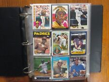 Lot  of  500  TONY  GWYNN  Baseball  Cards (1983-2002/in  Notebook/clear sheets)