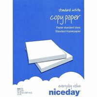 1- 50 Ream Printing Paper White 500 Sheet Per Ream A4 80gsm Printer Photo Copier