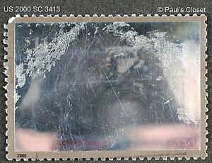 US 2000 SC 3413 $11.75 SPACE MOON LANDER USED NO GUM HOLOGRAM CANCEL  FINE #1