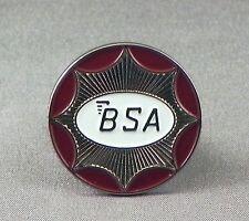 METALLO SMALTO SPILLA DISTINTIVO BSA Logo Circle BIKE Motocicletta Argento