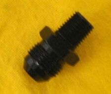 Straight Adapter 8 AN to 3/8 NPT Fitting Black