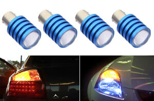 x4 1157  LED Yellow Replace Swap Sylvania Rear Side Marker Light Bulbs Y185