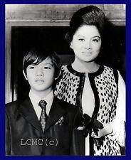 FOTOGRAFIA PRESS PHOTO VINTAGE 1970 PHILIPPINES IMELDA MARCOS - FERDINAND MARCOS