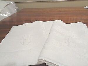 "Antique 100% linen napkins Rare initials and 21"" square"