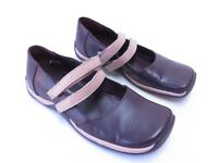 A9 - ZOE WITTNER PURPLE Flats Leather STICKY THING STRAP Shoes BUMPER SZ 8