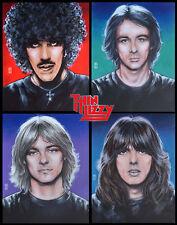 "THIN LIZZY BAND PORTRAITS  Renegade Print 16""x11"" By Jim Fitzpatrick. Thin Lizzy"