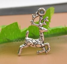 30pcs Tibetan silver Sika deer charm pendant Jewelry Findings 14x20mm A3353