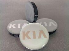 KIA Cache Moyeux Centres de Roue Silicone Emblem 4p x 60mm/55mm  *NEUF*
