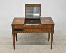 f62m04- Alter Frisiertisch/ Poudreuse um 1800, Holz, Furnier und Marketerie