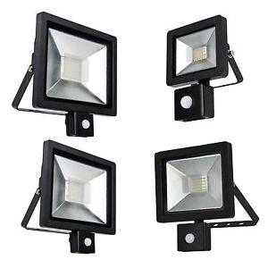 LED Compact Outdoor Energy Saving Outside Security Flood Light PIR Motion Sensor