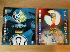 Panini Football World Cup 2002 + 2006 Sticker Albums Printed Stickers