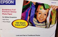 Epson Premium Photo Glossy Paper 4x6 (100 Sheets) S041727 Made in Japan