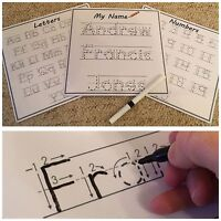 Write your Name Easy wipe & Reusable (Personalised Teaching Aid)