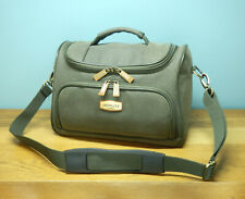 Skyflite London green faux leather overnight / travel bag with adjustable strap