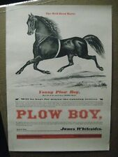 PLOW BOY THE WELL BRED HORSE AD PRINT VINTAGE POSTER BAR GARAGE CNG1356