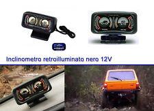 Inclinometro auto, fuoristrada, camper, panda, Suv,4x4, Retroilluminato Nero 12V