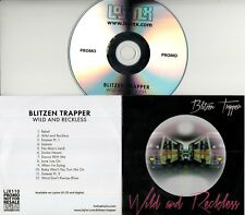 BLITZEN TRAPPER Wild And Reckless 2017 UK 12-trk promo test CD