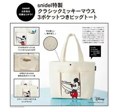Fashion Mickey Mouse White Canvas Waterproof Large Tote Shopper Shoulder Bag