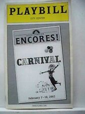 CARNIVAL Playbill ANNE HATHAWAY / BRIAN STOKES MITCHELL / DOUGLAS SILLS NYC 2002