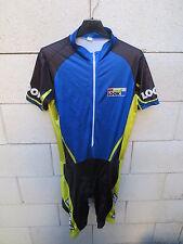 Maillot intégral Cuissard LOOK BIEMME cycliste bleu noir cycling jersey maglia L