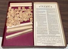 VINTAGE 1948-1953 SCRABBLE Board GAME SELCHOW AND RIGHTER, COMPLETE