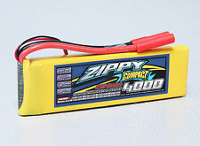 New Zippy Compact 4000mAh 2S 7.4V 25C 35C Lipo Battery Pack RC HXT 4mm USA