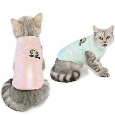 Cute Puppy Clothes Cat Windproof Cat Jacket Cotton Warm Outdoor Pet  Winter Coat