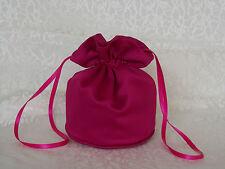 Fuchsia pink satin dolly bag for bridesmaid/eveningwear/ prom