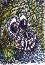 Aceo Art Sketch Print Scary Monsters Card 2 Ali Signed Jesamine James 2020