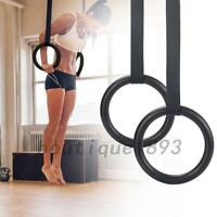 Exercise Fitness Gymnastics Rings with Adjustable Straps Strength Workout Gym AU