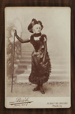 Julia Depoix Actrice Théâtre Photo Cabinet card Van Bosch Paris