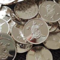 Pirate design. Lot of 10, 1 gram .999 Fine silver bullion round. New!