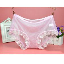 Women Sexy Sheer Lace Transparent Knickers Briefs Underpants Underwear Panties