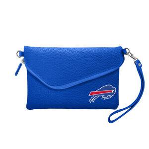 BUFFALO BILLS NFL PEBBLE FOLD OVER PURSE NEW hand bag handbag