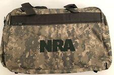 "NEW NRA Duffle Gym Travel Hunting BAG Digital Camo Canvas Waterproof Inside 20"""
