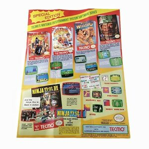 VINTAGE Special Edition Tecmo Nintendo Entertainment System poser TEC-NES-US-2