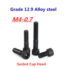 M4-0.7 Allen Hex Socket Cap Head Screw Bolt 12.9 Grade Black Alloy Steel DIN912