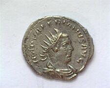 VALERIAN I 253-260 AD. SILVERED AE ANTONINIANUS EXTREMELY FINE