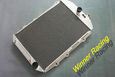 Aluminum Radiator Fit Chevy Hot/Street Rod 350 V8 W/Tranny Cooler 1938 56mm