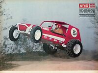 1970 Great Magazine Pic of Gordon Jones Racing the Red Hornet Bandido Dune Buggy