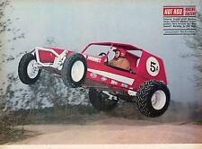 1970 Great Magazine Pic of Gordon Jones Racing the Red Hornet Bandido Dune Buggy